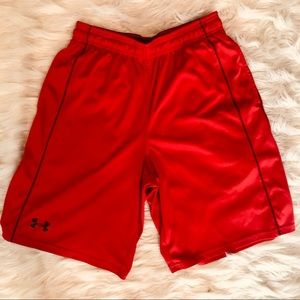 Men's Under Armour  red workout shorts S 🏃🏻♂️!